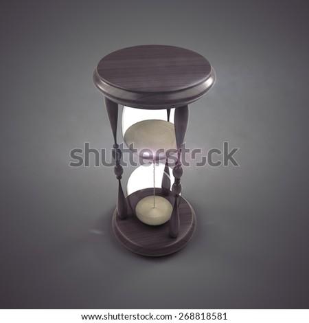 sand hourglass - 3d render - stock photo