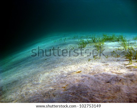 Sand in the blue - stock photo