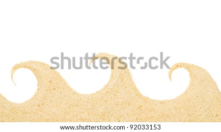 sand isolated on white background. Beach sand . - stock photo