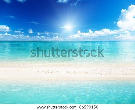sand of beach and sea - stock photo