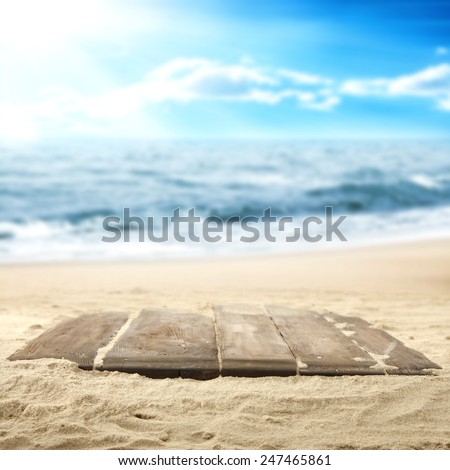 sand on the beach  - stock photo