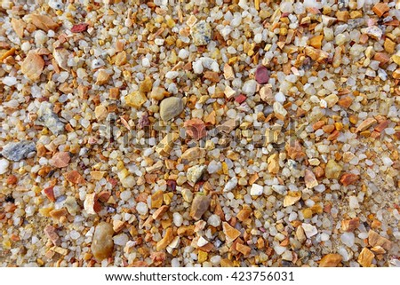 Sand on the beach background:Close up,select focus with shallow depth of field:ideal use for background. - stock photo