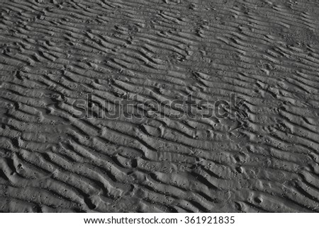 sand pattern at the beach in Thailand