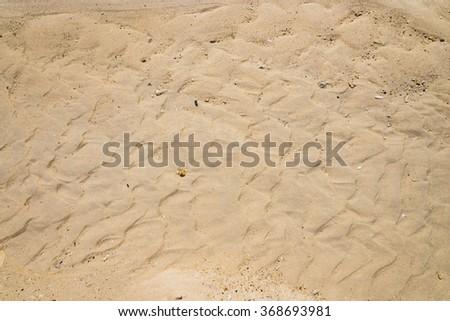 Sand pattern on tropical beach, thailand  (sand on the coast) - stock photo