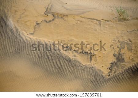 Sand patterns - stock photo
