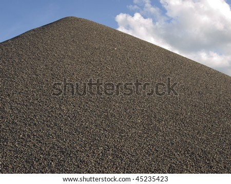 Sand pile - stock photo