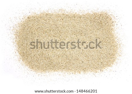 Sand pile on a white background - stock photo