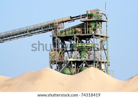 Sand processing plant - stock photo