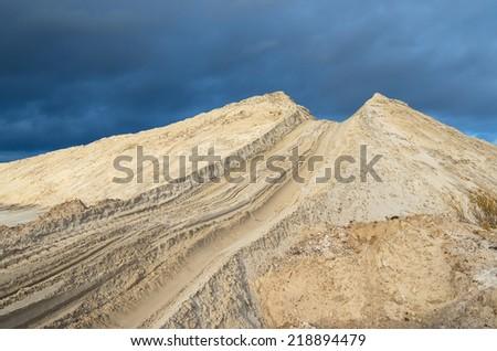 Sand quarry - stock photo