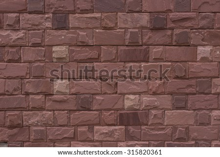 sand red stone wall texture background pattern - stock photo
