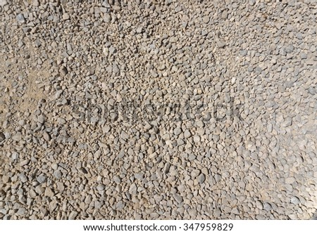 Sand road texture and background - stock photo