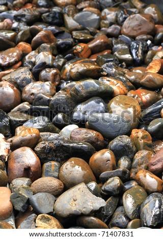 Sand rocks at beach - stock photo