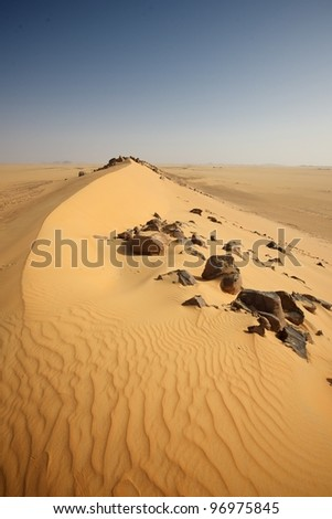 sand sea - stock photo
