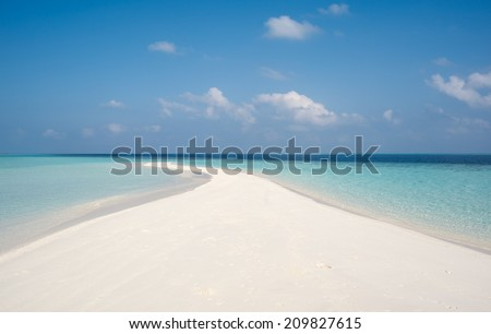 sand spit - stock photo