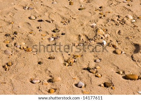 sand stone background on the beach