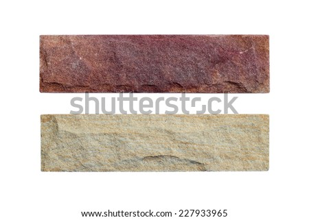 Sand stone samples isolated on white background - stock photo
