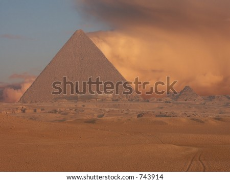 Sand-storm - stock photo