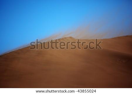 Desert Storm Sand Storm in Desert Stock