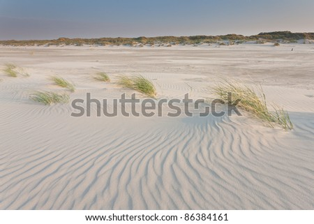 Sand-structures on the beach - stock photo