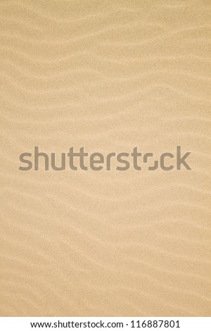 Sand texture.Dented wave of the blow of the wind. - stock photo