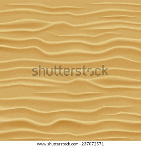 Sand texture. Desert sand dunes - view from a height. Raster version of the illustration. - stock photo