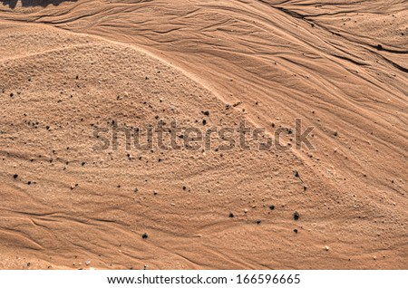sand texture from west USA utah 2013 - stock photo