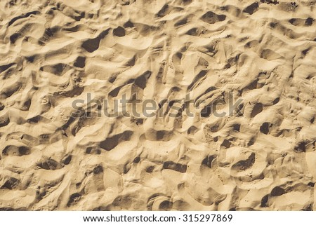 sand, top view. good abstract background - stock photo