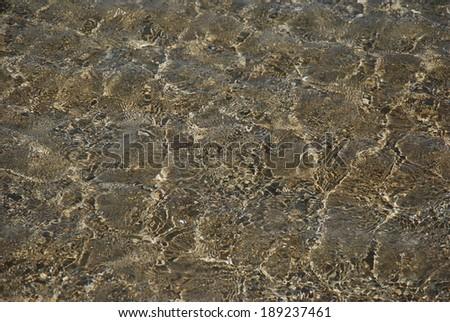 Sand under water - stock photo