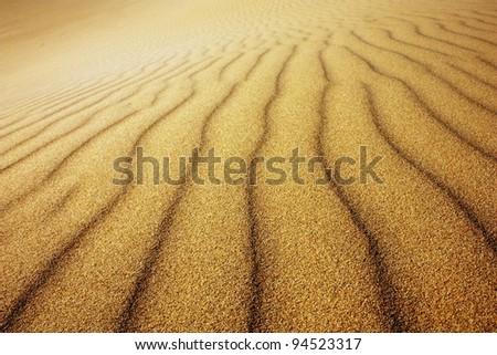 sand wave - desert - stock photo
