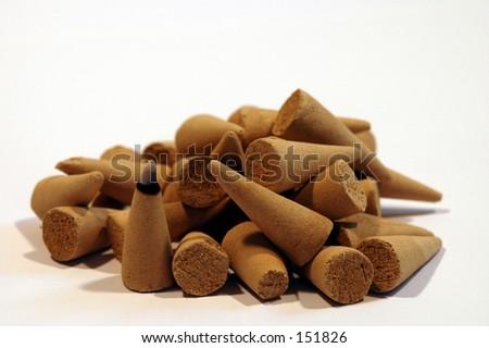 Sandalwood incense cones - stock photo