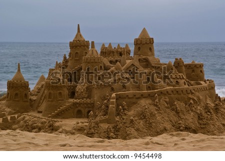 Sandcastle at Vina Del Mar, Chile