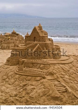Sandcastle at Vina Del Mar, Chile - stock photo