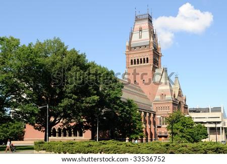 Sanders Theater and Memorial Hall building, Harvard University in Cambridge, Massachusetts - stock photo