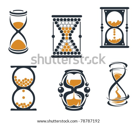 Sandglass symbols and icons for time concept and design, such a logo. Vector version also available in gallery - stock photo