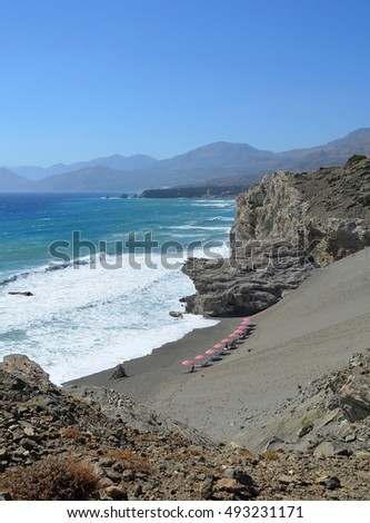 Sandhill at Agios Pavlos, Crete, Greece