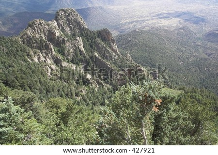 sandia peak landscape - stock photo