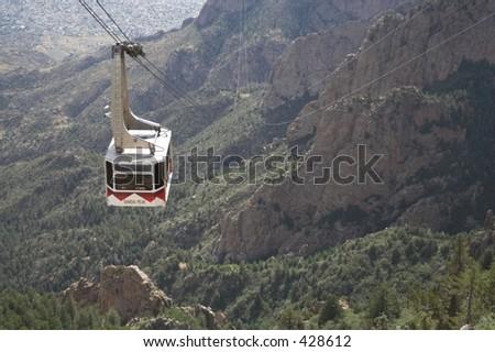 sandia peak tram - stock photo
