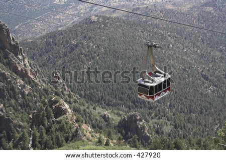 sandia peak tram red card - stock photo