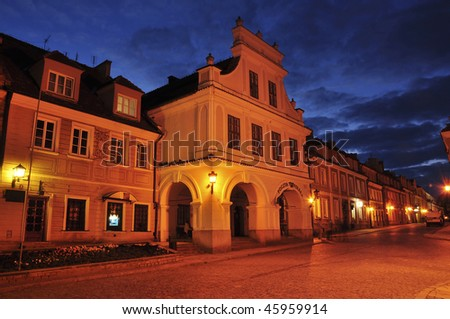 Sandomierz by night (Poland)