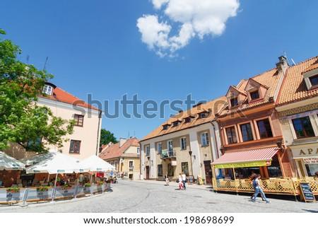 Sandomierz, Poland - MAY 23: Sandomierz is known for its Old Town, which is a major tourist attraction. MAY 23, 2014. Sandomierz, Poland.