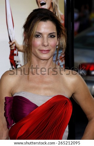 Sandra Bullock at the Los Angeles premiere of 'All About Steve' held at the Grauman's Chinese Theatre in Los Angeles on August 26, 2009.