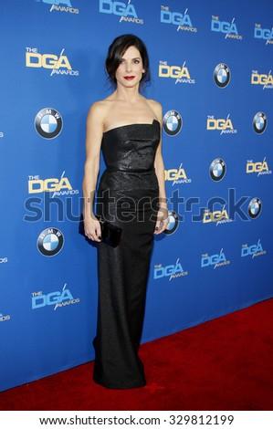 Sandra Bullock at the 66th Annual Directors Guild Of America Awards held at the Hyatt Regency Century Plaza in Los Angeles, USA on January 25, 2014. - stock photo