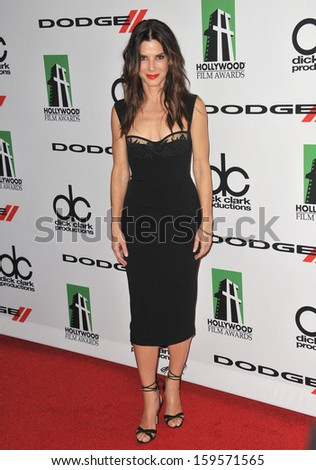 Sandra Bullock at the 17th Annual Hollywood Film Awards at the Beverly Hilton Hotel. October 21, 2013  Beverly Hills, CA - stock photo