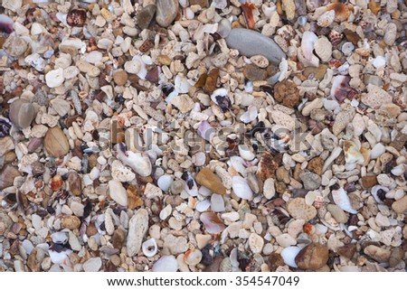 sands and stones on beach