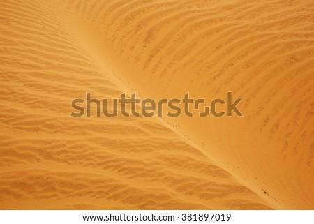 Sands texture of dunes in Vietnam - stock photo