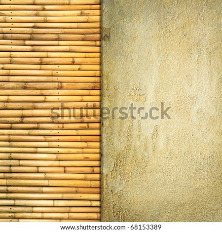 sandstone and bamboo texture - stock photo