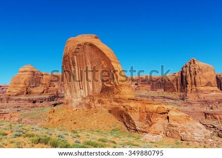 Sandstone formations in Utah, USA - stock photo