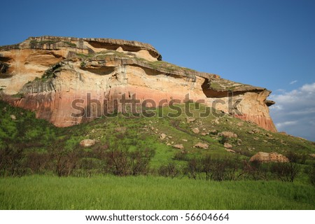 Sandstone hills in South Africa's Golden Gate National Park