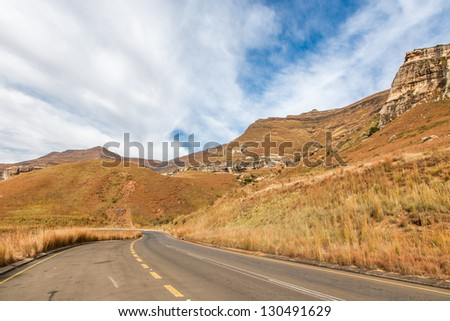 Sandstone mountains in the Golden Gate Highlands National Park in South Africa.