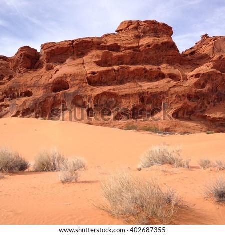 Sandstone Pink Sand - stock photo
